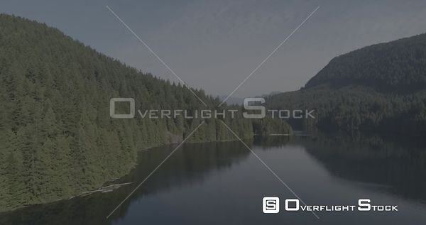 British Columbia Canada Rain Forest Second Growth and Inlet