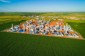 Air View of Stacked Bakken Rigs