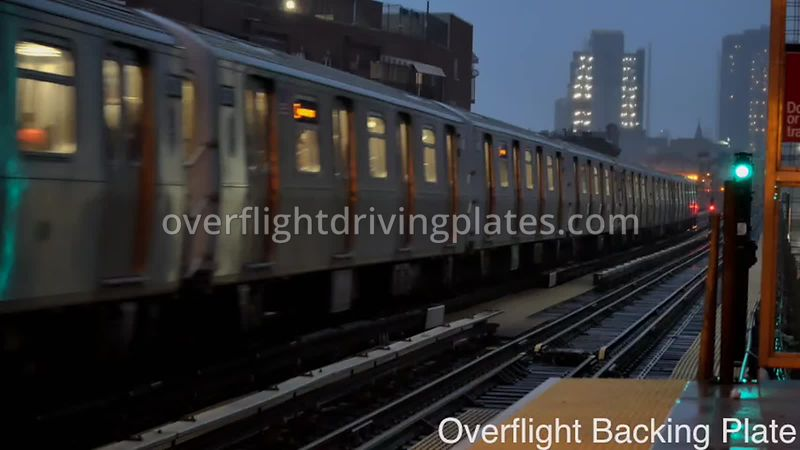 Brooklyn J/M/Z Line Commuter Train Sparks   New Jersey USA - BackingPlate Oct 29, 2019