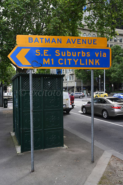 Batman Avenue, sign, Melbourne Australia.