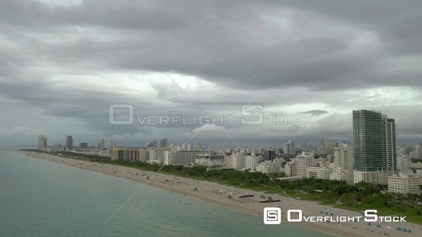 Storms over Miami Beach FL USA