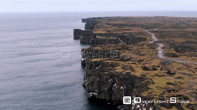 A Rocky Volcanic Coast in West Iceland