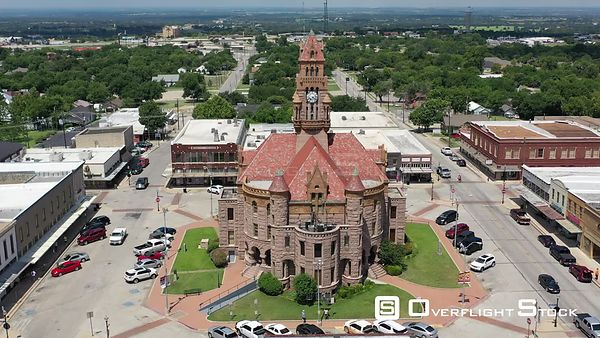 Wise County Courthouse and town square, Decatur, Texas, USA