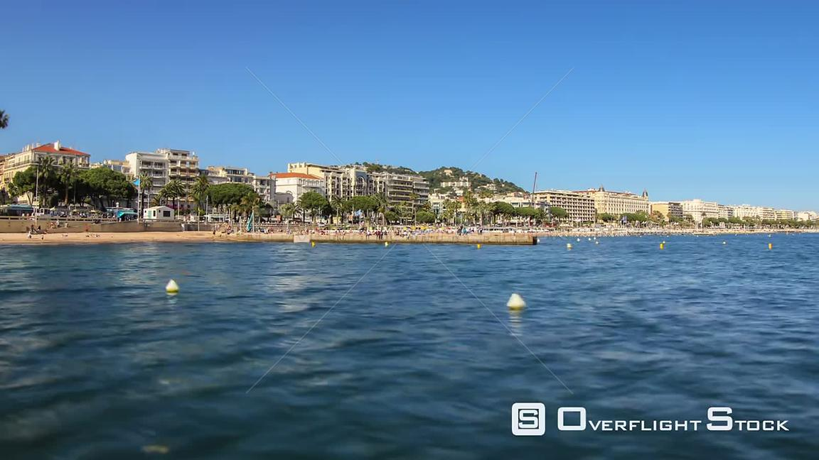 Beach time lapse clip in Cannes, France.