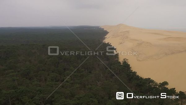 Dunes de Pilat, where sand dune meets the forest and the sea, France
