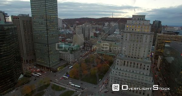 Montreal Cityscape and CN Building Quebec Canada