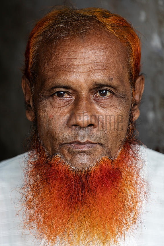 Portrait of a Man with a Hennaed Beard