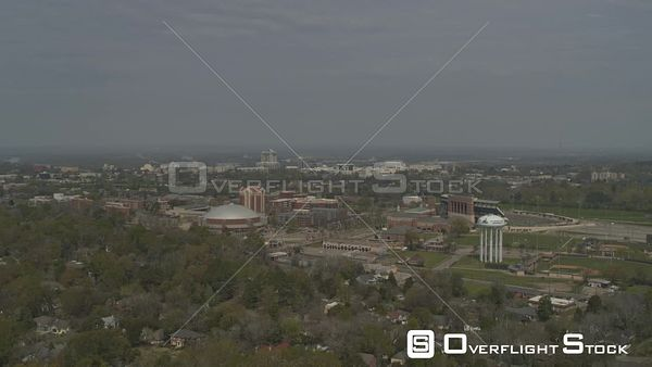 Montgomery Alabama right to left reveal of the state university and the cityscape  DJI Inspire 2, X7, 6k