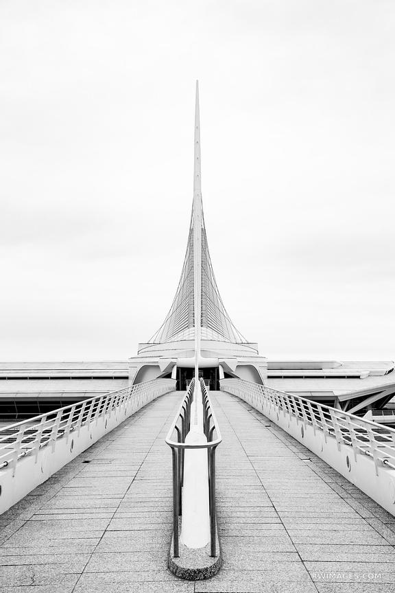 MILWAUKEE ART MUSEUM MODERN ARCHITECTURE MILWAUKEE WISCONSIN BLACK AND WHITE VERTICAL