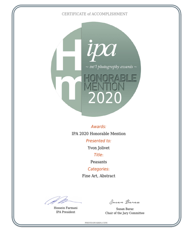 IPA - Honorable Mention