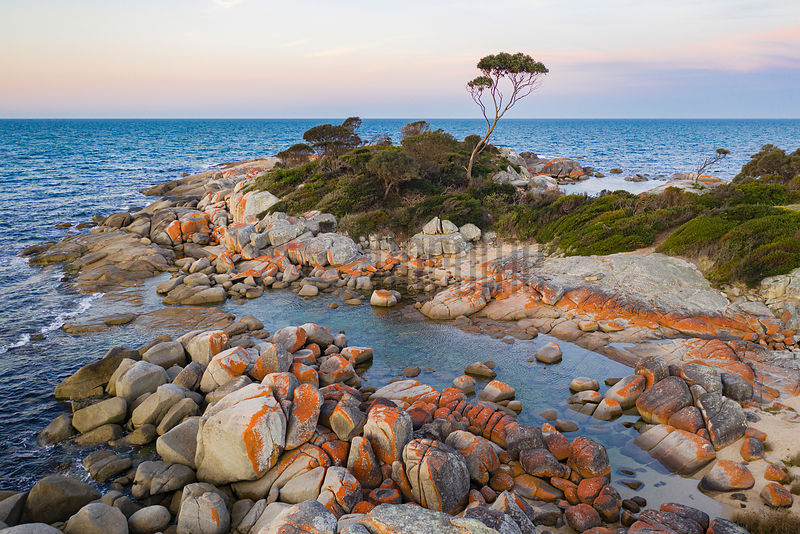 Sunset on a Granite Rocky Headland