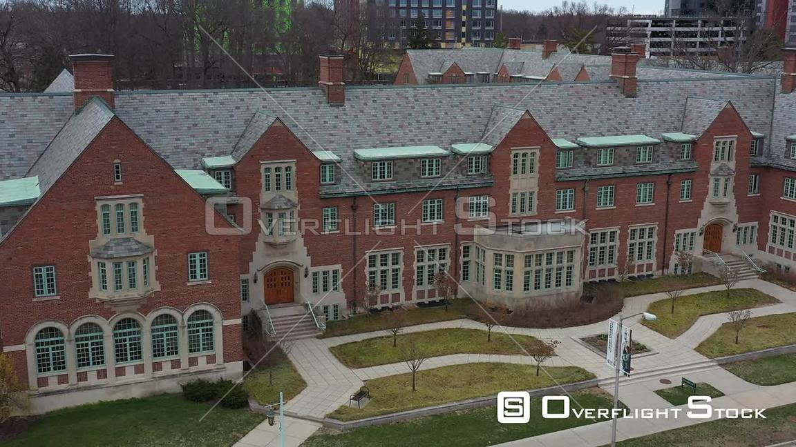 Drone Video of Michigan State University at East Lansing during COVID-19 Pandemic