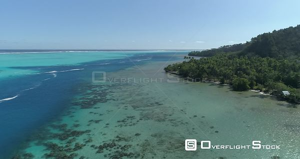 Drone video island West Raiatea French Polynesia