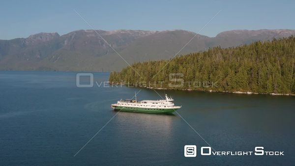 Approach of Uncruise Adventures Wilderness Endeavour in Misty Fjords National Monument Alaska