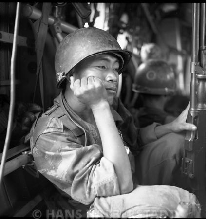 ARVIN Ranger with BAR during air assault mission in II Corps east of Tuy Hoa. US Army combat aviation operations in Viet Nam