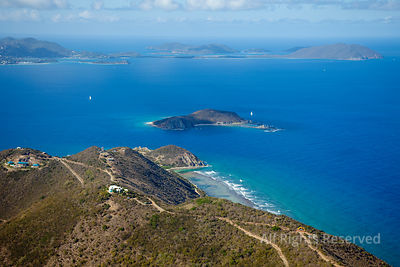 Peter Island and Dead Chest Island. Big reef Bay. British Virgin Islands Caribbean