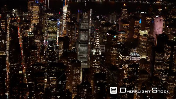 Chrysler Building Aerial Night New York City