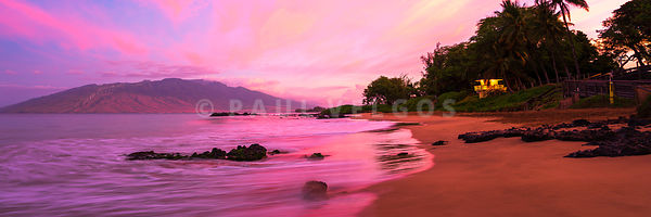 Maui Hawaii Sunrise at Kamaole Beach Panoramic Photo