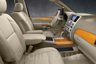 SUV Interior Wheat Leather Light Wood trim