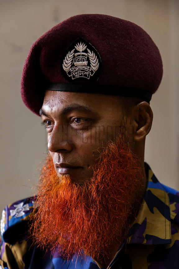 Portrait of a Security Guard at the Cox's Bazaar Airport