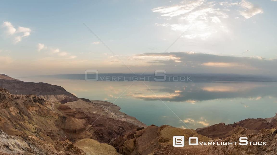 Sunset time lapse of Dead Sea. Israel