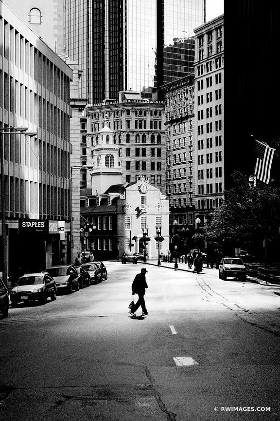 BOSTON DOWNTOWN BLACK AND WHITE VERTICAL