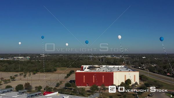 Grocery Store Grand Opening with Balloons, Bryan, Texas, USA