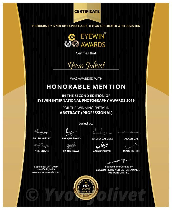 EyeWiin Awards - Mention honorifique