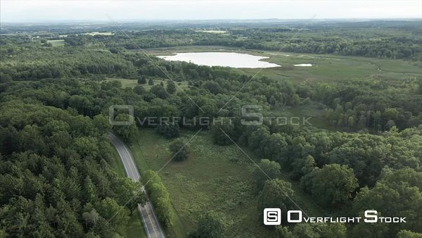 Mendon Ponds Park Honeoye Falls Near Rochester New York Drone View