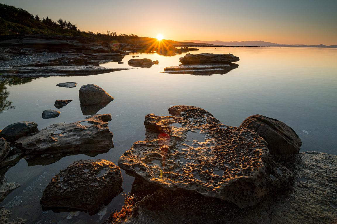 Sunrise at Sandpiper Beach on Hornby Island, BC