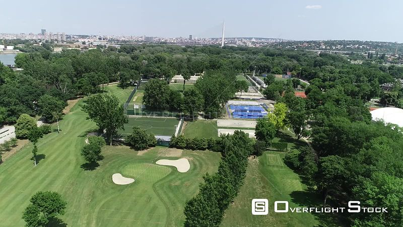 Drone Video of Golf Course Belgrade  Serbia