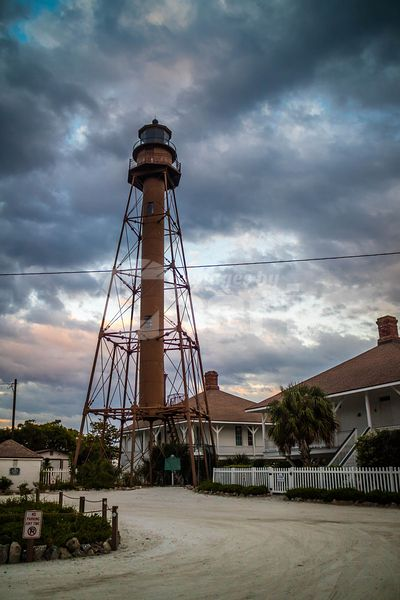 A well known Sanibel Island Lighthouse in Ding Darling NWR, Florida