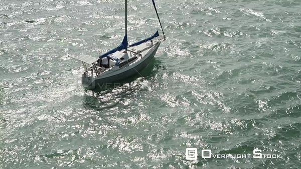 Sailing Away Aerial Drone Footage