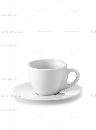 Cup with saucer of insulated dinnerware 07 with path.