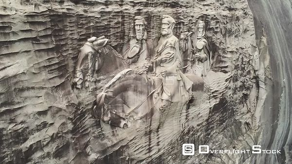 Stone Mountain Park, Georgia. Confederate Carving, Jefferson Davis, Robert E. Lee, Stonewall Jackson.