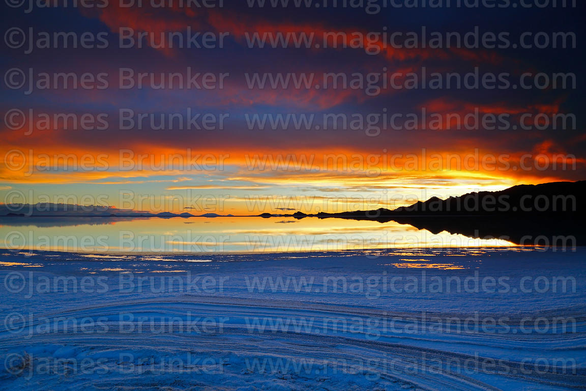 Magical Andes Photography Salt Formations Caused By Evaporation Around Edge Of Salar De Uyuni In Rainy Season At Sunset Bolivia Photograph