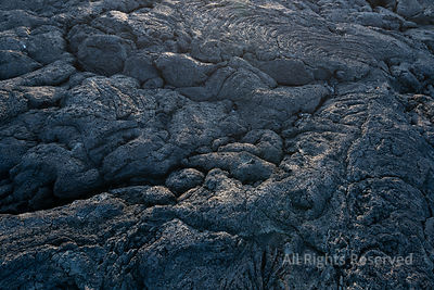 Detail of Nice Light at Sunset Over the Black Dark Basalt Coastline Lava Rocks of the Westcoast of Ilha Do Pico Island, Azores