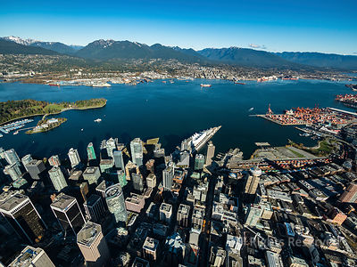 Downtown Vancouver and the North Shore Mountains