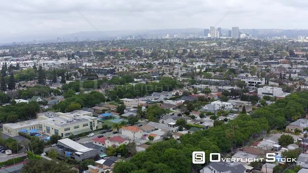 Residential Los Angeles at Culver City California Drone Aerial View