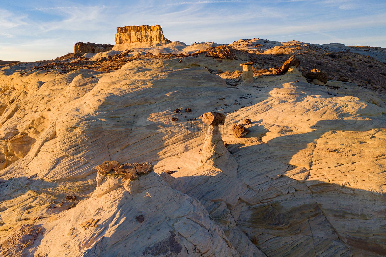 Toadstool Hoodoos at Sunset