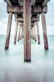 Pensacola Beach Florida Gulf Pier Pilings Photo