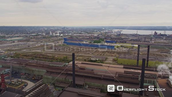 Hamilton Industrial Sector Ontario Hamilton cityscape panoramic from above Industrial Sector L warehouse