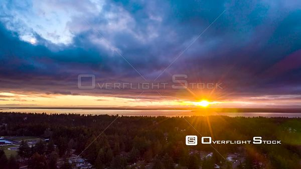 Puget Sound From Edmonds Sunset Time Lapse Washington State