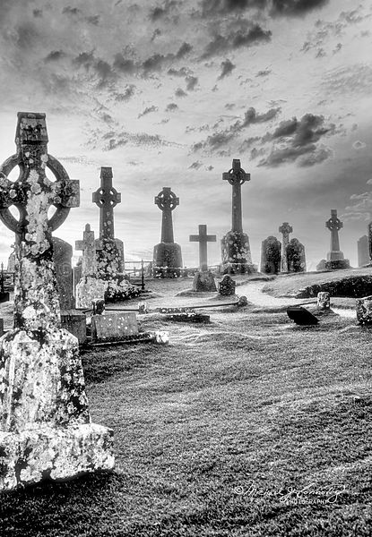 Celtic Crosses (Black & White)- Rock of Cashel, Ireland