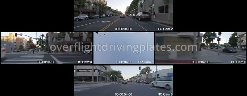 Downtown Sunset  Santa Monica California USA - Driving Plate Preview 2012