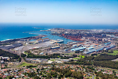 Port Kembla from Mt St Thomas