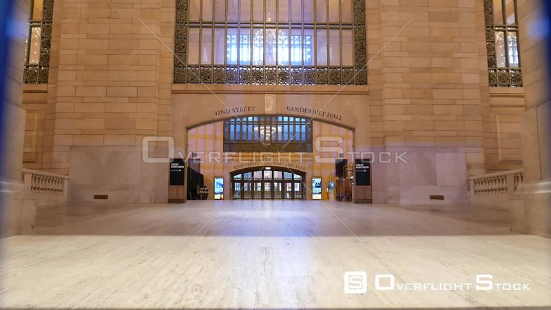 Grand Central Entranceway New York During Covid-19 Pandemic Lockdown