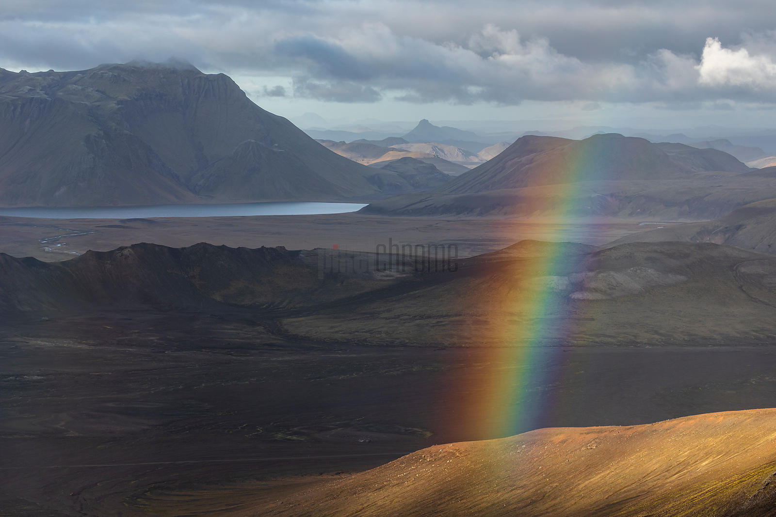 Rainbow in a Highlands Landscape