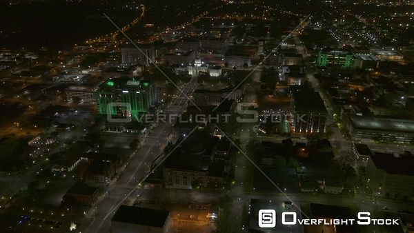 Montgomery Alabama right to left panning reveal of the capitol building to downtown along dexter avenue  DJI Inspire 2, X7, 6k