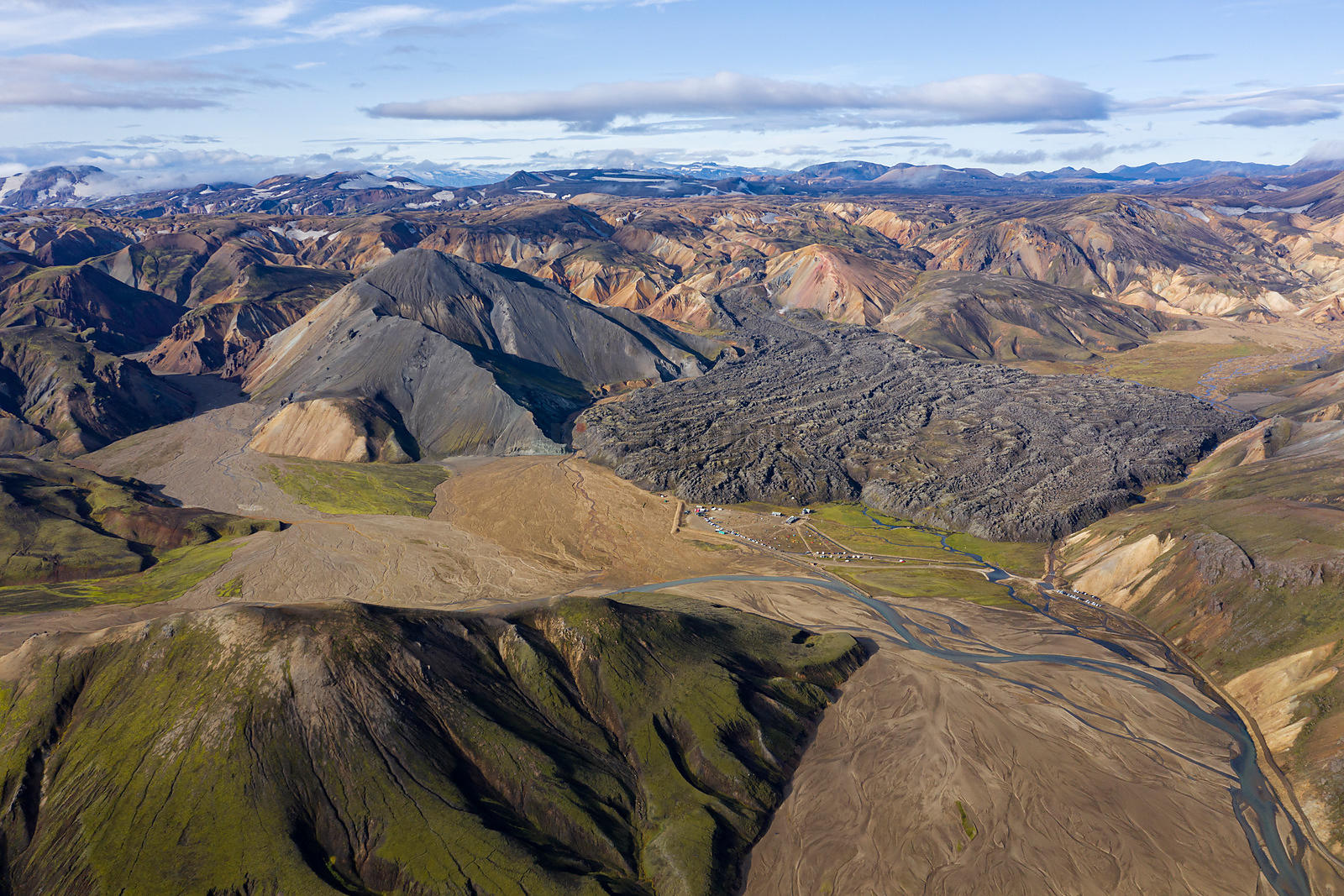Aerial View of  Landmannalaugar